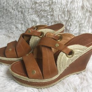 Vince Camuto leather wedges sandals